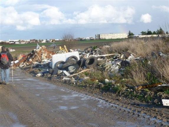 En Île-de-France, une action de la FDSEA et des JA contre les dépôts sauvages