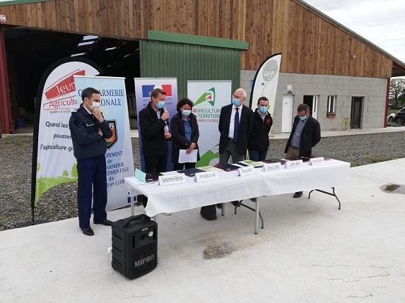 Sécurité : signature de la convention DEMETER en Maine et Loire
