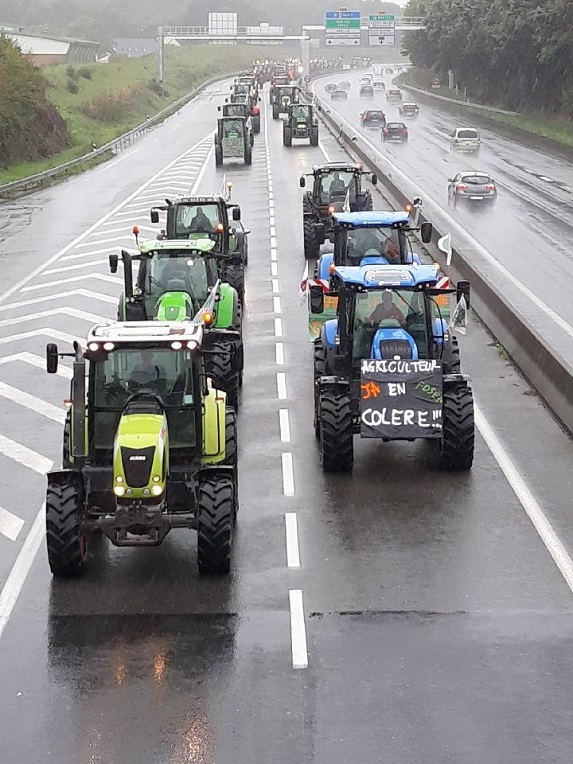 Les éleveurs manifestent à Clermont-Ferrand et Lyon pour «défendre leur métier»