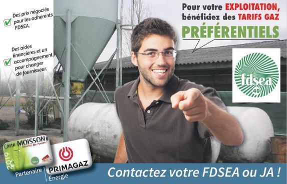 Energie : des tarifs gaz préférentiels pour les adhérents FDSEA et JA