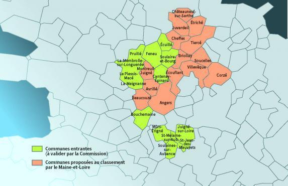 Zones défavorisées : 14 communes classées dans le Maine-et-Loire