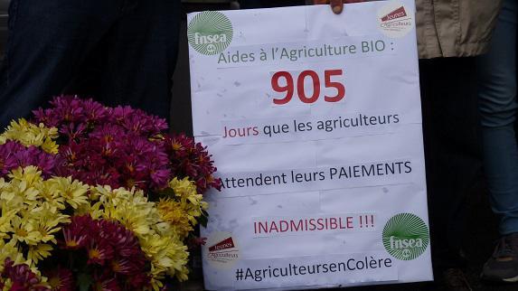 Aides bio et Maec : FDSEA et JA devant l'ASP à Nantes